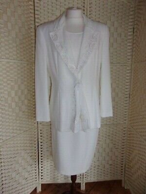 Ladies size 12 Lady Day by Bagatelle cream 3 piece skirt suit.
