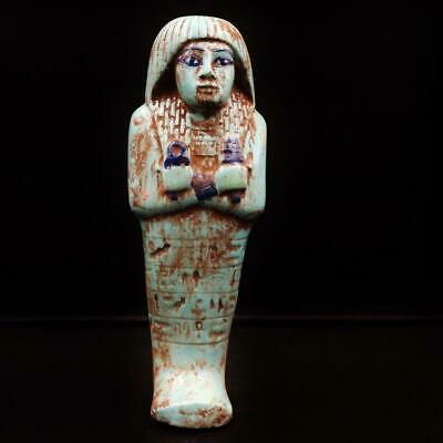 RARE Antique Egyptian Faience Ushabti (Shabti) Statue Figure..ANCIENT EGYPT