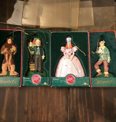 Kurt Adler 4 Piece Wizard Of Oz Handpainted Resin Ornament Set 1999-2001 LOT