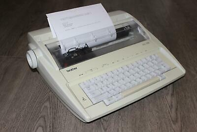 Brother AX-100 Electric Typewriter - 7 ref AB