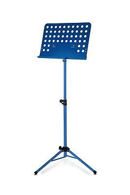 Atril Partituras de Musica Soporte Orquesta Plegable Metal Ajustable Azul Set