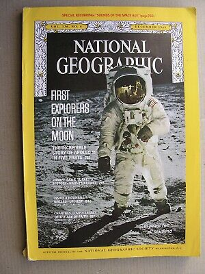 NATIONAL GEOGRAPHIC December 1969 Lunar Landing Apollo 11 Moon Neil Armstrong