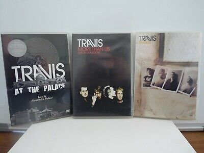 Lot / Bundle of Travis DVDs More Than Us Singles At the Palace