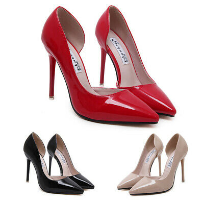 Womens High Heel Stiletto Court Shoes Ladies Pointy Toe Office Pumps Party Prom