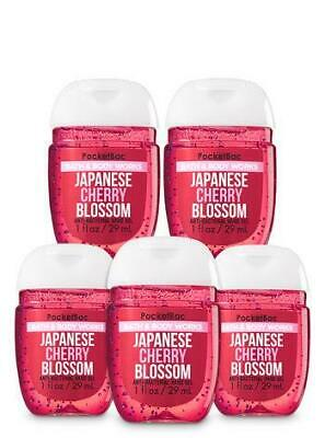 Bath & Body Works Set of 5 Japanese Cherry Blossom Hand Sanitizer Anti Bacterial