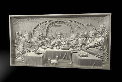 "3d stl Model for CNC Router Machine Artcam Vectric Aspire ""The Last Supper "" CNC"