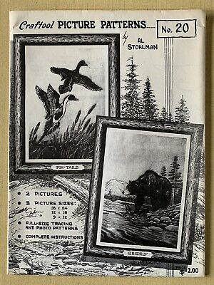 Craftool Leather 2 Picture 3 Size Patterns #20 Pin Tails & Grizzly Al Stohlman