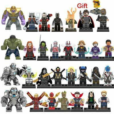Avengers End Game mini figurines Marvel super héros Hulk Iron Man Thor 30 pcs