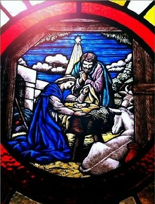 """Postcard-""""The Nativity on Stained Glass"""" (N3)"""
