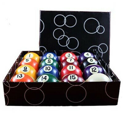 Set Bilie 57,2 Mm Biliardo Pool Carambola 16 Biglie Numerate Colorate 1 Bianca
