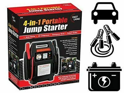 CAR JUMP STARTER 12V PORTABLE AIR COMPRESSOR BATTERY START BOOSTER CHARGER 4 in1