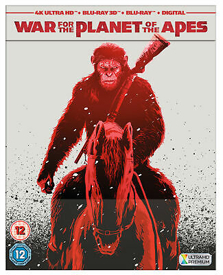 War for the Planet of the Apes (4K Ultra HD + 3D Blu-Ray Steelbook) Andy Serkis
