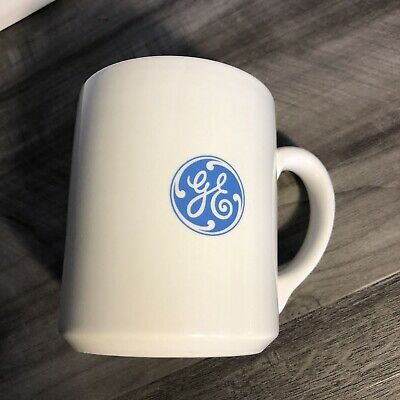 Vtg General Electric GE Coffee Mug Cup Silver Stripes Made in England Tams