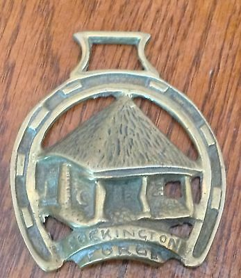 Brass Horse Bridle Saddle  Medallion England Cockington Forge Hut
