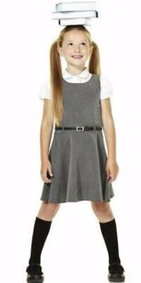 3 x GIRLS EX F&F GREY BELTED SCHOOL DRESS PINAFORE UNIFORM. Yes 3 Dresses