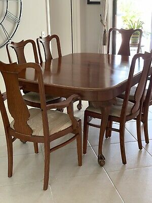 Antique Expandable Dining Table Set- Local Pick Up Only