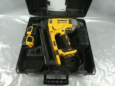 Dewalt DCN890 18v Concrete Nailer With Two Batteries & Charger Used Condition