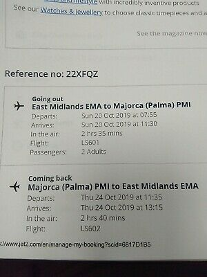 jet2 flights to Majorca from east Midlands 20 october to 24 October £200 both