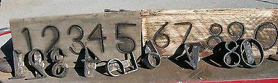 CUSTOM MADE BRANDING IRONS & 3/4 - 6 inch tall NUMBER SET YOUR SPECS FOR USE OR?