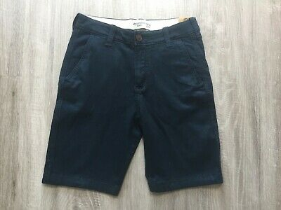 Abercrombie & Fitch Boys Navy Blue Smart Shorts 13-14 Years Bnwt A&F Chino