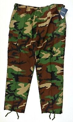 Propper Battle Rip Acu Trouser Men's XL/R Button Fly Green Camo Tactical Hunting