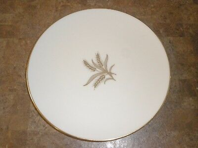 Lenox Gold Rimmed R-442 Wheat Pattern Salad Plate 7-3/4""