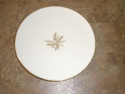 Lenox Gold Rimmed R-442 Wheat Pattern Bread Plate 6-1/4""