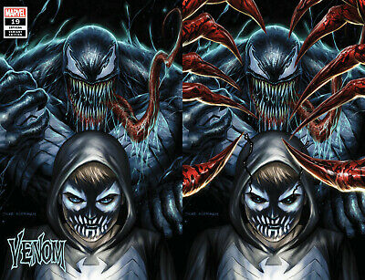 Venom 19 Marvel Tyler Kirkham Dylan Brock Virgin Set Variant Absolute Carnage