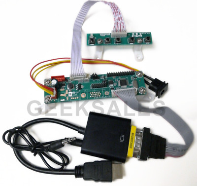 """Arcade1Up LCD Video Driver Converter Board, adds HDMI & VGA input to 17"""" Monitor"""
