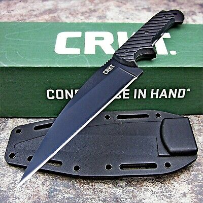CRKT C/K Dragon Fixed Blade 9Cr18MoV Black G10 Full Tang Fighting Knife & Sheath