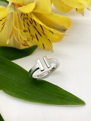 "TIFFANY & CO ""T SQUARE"" STERLING SILVER RING /Band SIZE 7.5"