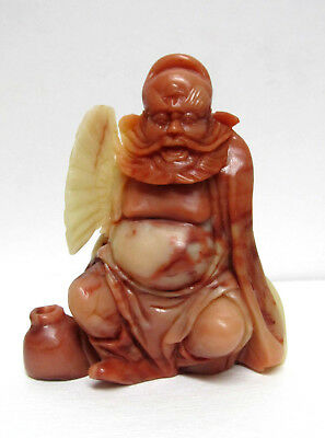 Fine Old Chinese shoushan soapstone Hand carved Character figurine