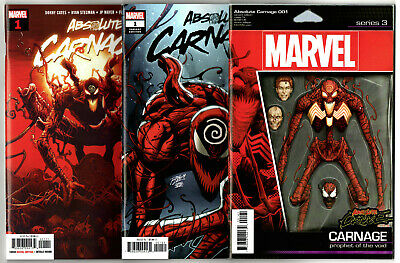 Absolute Carnage #1-3 (2019) Marvel VF/NM to NM- Plus Variants
