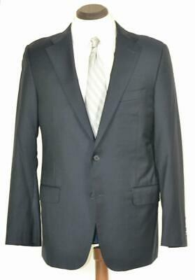 $1895 Current HICKEY FREEMAN Loro Piana 150s Flat Front Side Vent Navy SUIT 40 R