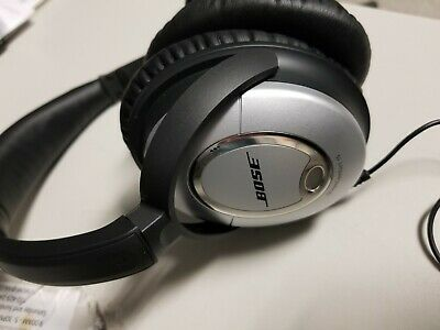 Bose QuietComfort 15 Acoustic Noise Cancelling wired Headphones silver no case