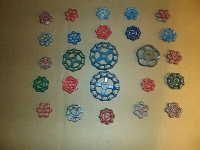 Lot of 25 vintage Water valve handles Faucet Knobs Steampunk Industrial Art -Z