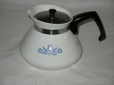 Mint Corning Ware  Blue Cornflower  6 Cup Teapot Tea Pot With Rare Metal Lid