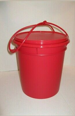 Tupperware  Jumbo Canister With Handle 8 Quart ~ Red ~ New