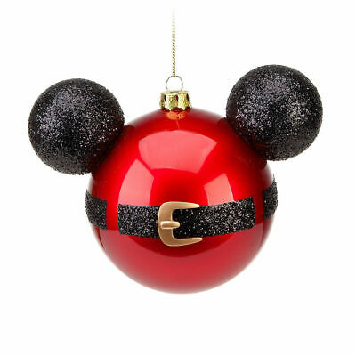 Disney Parks Store Santa Mickey Mouse Icon Ornament Red Suit Glass Bulb Holiday