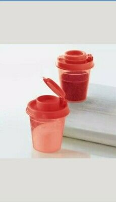 Tupperware Mini Salt and Pepper Shakers - Personal Size - NIP-Free Shipping