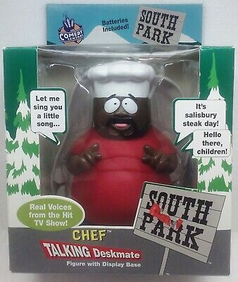 Comedy Central South Park CHEF NON TALKING DESKMATE figure w/ Display Base 1998