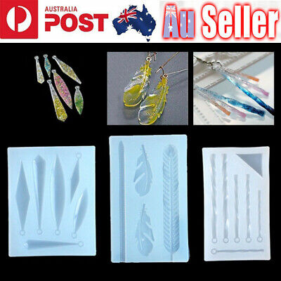 Silicone Earring Pendant Mold Jewelry Making Resin Epoxy Mould Casting Craft DIY