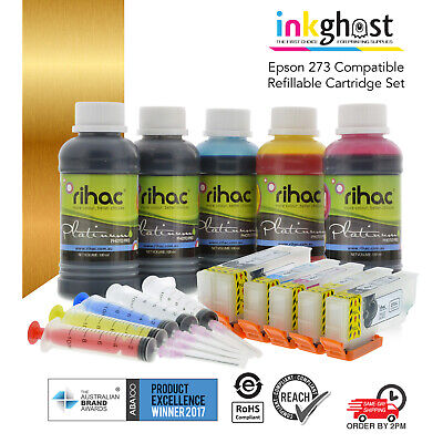 RIHAC Refillable ink cartridges alternative for 273 Epson XP-610 700 710 720 810