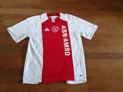 AJAX FC AMSTERDAM RED SOCCER JERSEY Adidas SIZE LARGE ABN AMRO Champions League