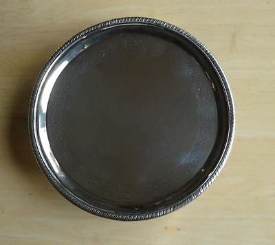 GOOD ANTIQUE GEORGE III, SCOTTISH STERLING SILVER SALVER TRAY, EDINBURGH c1802