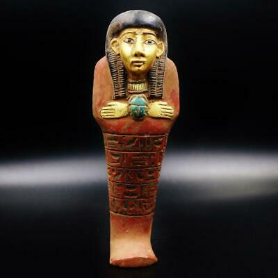 XL_RARE Antique Egyptian Faience Ushabti (Shabti) Statue Figure..ANCIENT EGYPT