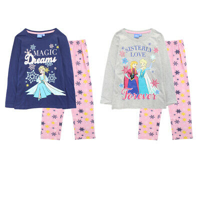Disney Frozen Girls Long Sleeve Pyjamas