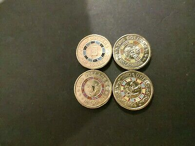 Set Of 4 Mr Squiggle 2 Dollar Coins - Uncirculated