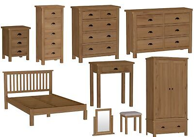 Chatsworth Solid Wood Bedroom Furniture, Antique Brass Effect Cup Handles