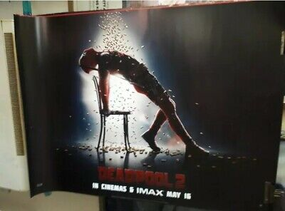Deadpool 2 UK Official Cineworld Double Sided Quad Poster